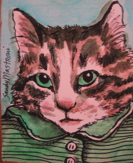 my-green-striped-shirt-cat